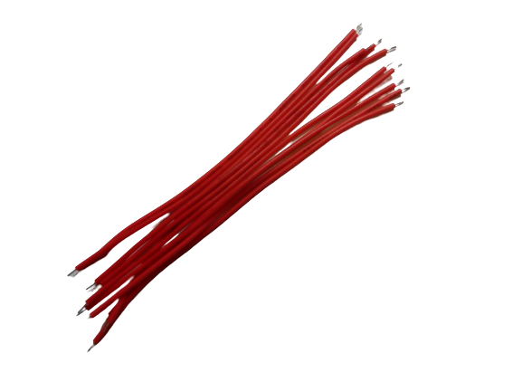 Tin-plated Connecting Wire 10cm, set of 10pcs (Option: Black, Red)