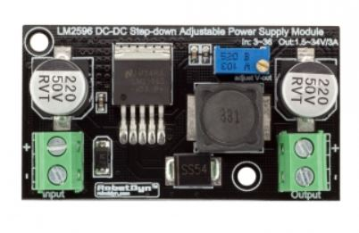 LM2596 DC-DC Step-down Adjustable Power Supply Module, In: 3~36, Out:1.5~34V/3A