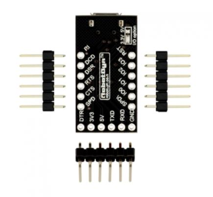 USB-Serial adapter CP2104, 5V/3.3V, digital I/O, Micro-USB