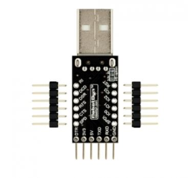 USB-Serial adapter CP2104 USB-A, 5V/3.3V, digital I/O
