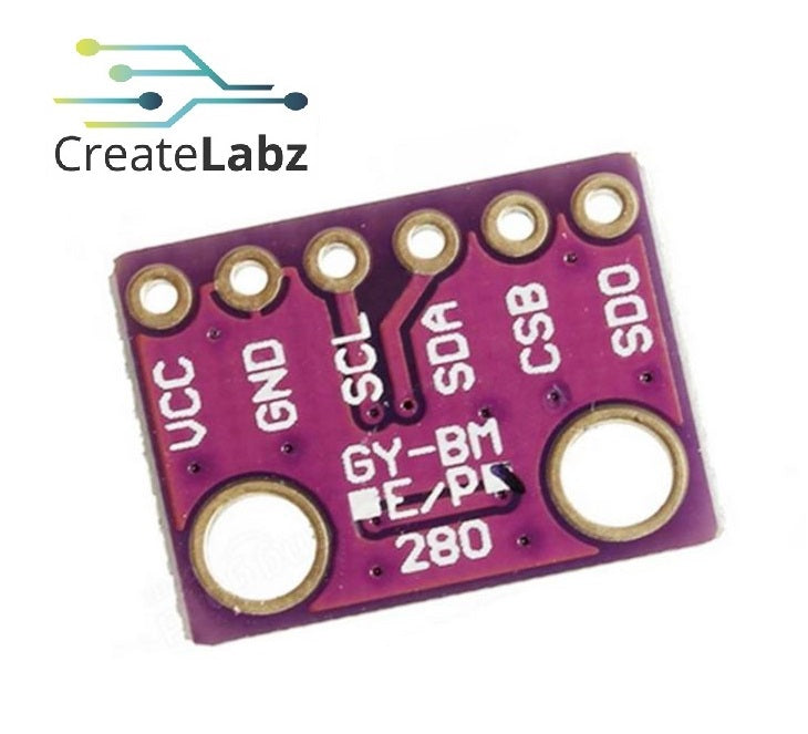 BME280 Barometric Pressure, Temperature & Humidity Sensor (SPI/I2C)