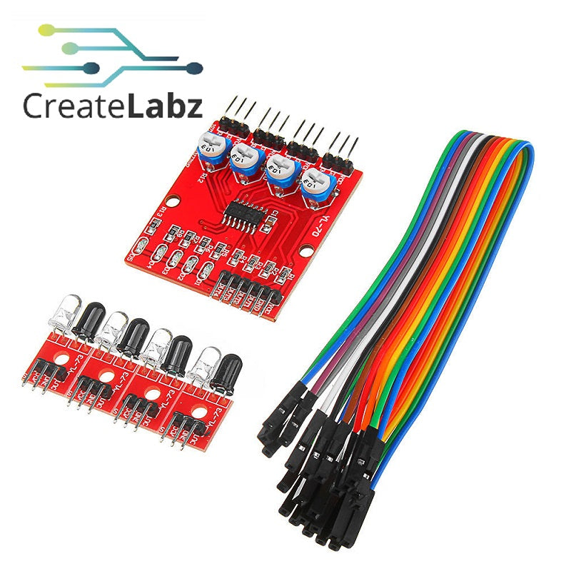 Infrared 4-channel Line tracking/following sensor (For smart robot car)