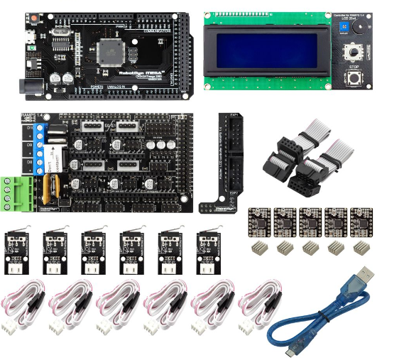 3D PRINTER AND CNC CONTROLLER KIT, includes 5x Stepper motors