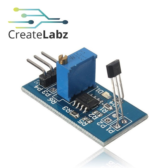 Hall Effect Sensor with LM393 Comparator, Motor Speed Test