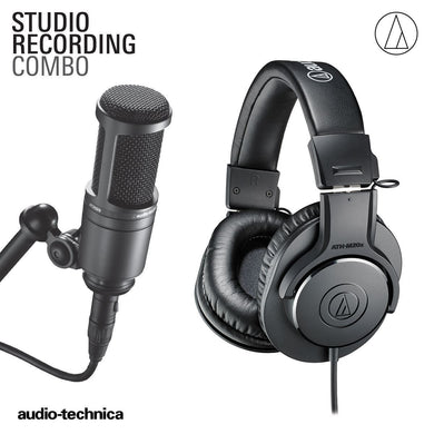 AUDIO TECHNICA STUDIO RECORDING COMBO PACK (ATH-M20X HEADPHONE + AT2020 MICROPHONE)