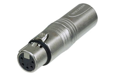 Neutrik -  NA3M5F - 3 pole XLR male - 5 pole XLR female for lighting (DMX) applications.