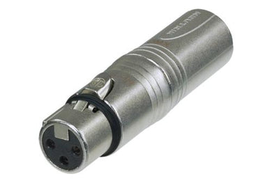 Neutrik -  NA3F5M - 3 pole XLR female - 5 pole XLR male for lighting (DMX) applications.