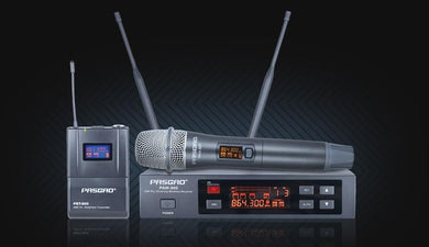 Pasgao Wireless Mic System with Handheld Mic
