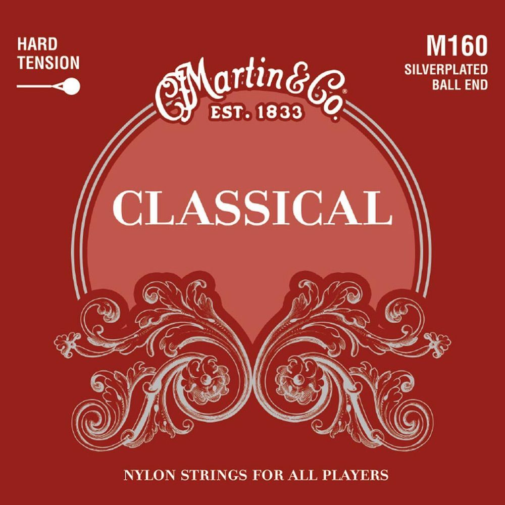 Martin M160 Silverplated Classical Guitar Strings High Tension Ball End