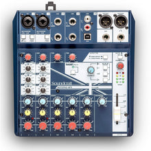 Load image into Gallery viewer, 2-MONO 3-STEREO MIXER W/USB I/O + FX NOTEPAD8FX Soundcraft