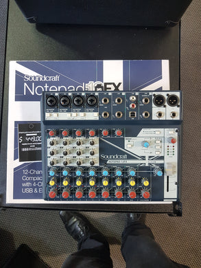 Sound craft 12 fx mixer