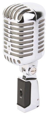 Power Dynamics Cardioid Capsule Retro Style Chrome Microphone
