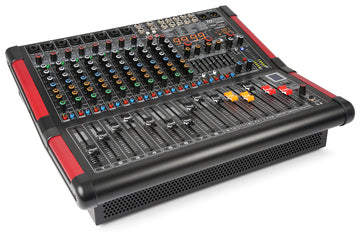 12 Channel Stage Mixer with 2x 350W RMS Amplifier USB and Bluetooth Receiver Product Code: 172.632