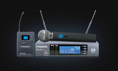Pasgao Wireless Mic System with Belt Pack and Handheld Mic