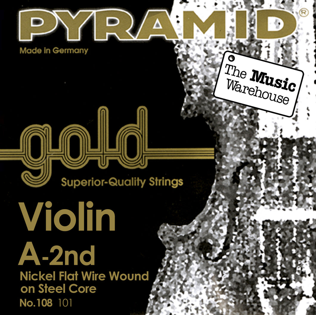 Pyramid Gold Violin A String - 1/2 Size