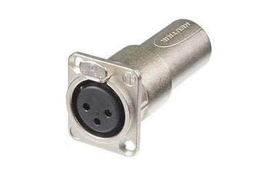 Neutrik -  NA3FDM - XLR female-male feedthrough adapter for panel mount.