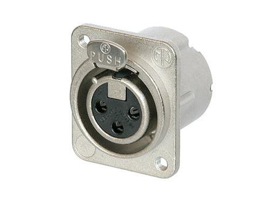 Neutrik NC3FD-LX-M3 M3 Threaded Chassis Mount Connector