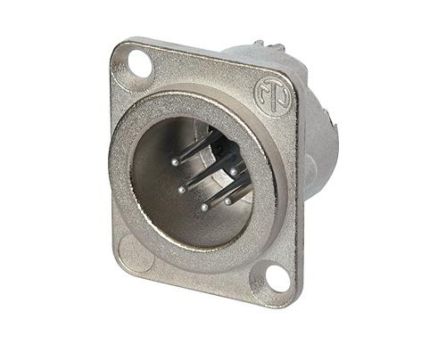Neutrik - NC6MD-LX - 6 pole male receptacle, solder cups, Nickel housing, silver contacts.