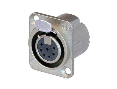 Neutrik - NC7FD-LX - 7 pole female receptacle, solder cups, Nickel housing, silver contacts.