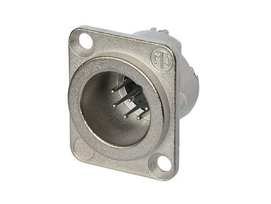 Neutrik - NC7MD-LX - 7 pole male receptacle, solder cups, Nickel housing, silver contacts.