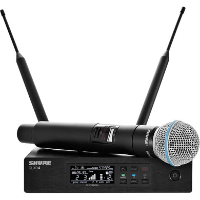 Shure QLXD24-B58A Handheld Wireless System With Beta 58A Microphone