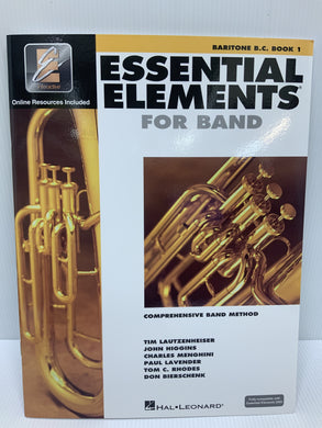 Essential Elements - For Baritone B.C. - Book 1