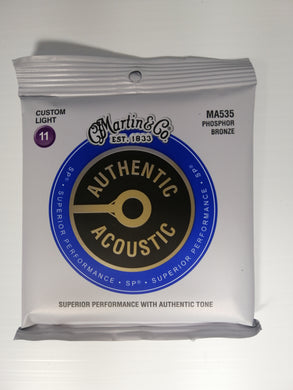 Martin Authentic Acoustic Strings -  Custom Light 11