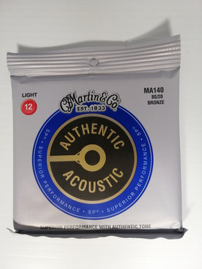 Martin Authentic Acoustic Strings -  Light 12 Bronze