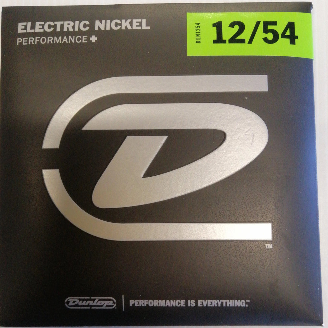 Dunlop Nickel Wound Electric Guitar Strings DEN1254 Lt/Heavy 12-54