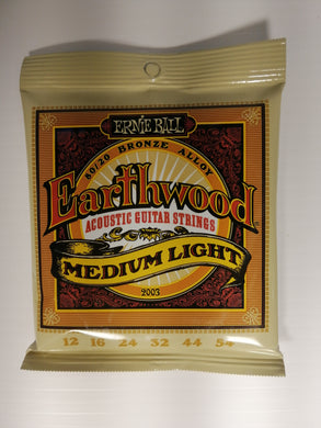 Ernie Ball Earthwood Acoustic Guitar Strings - Medium Light
