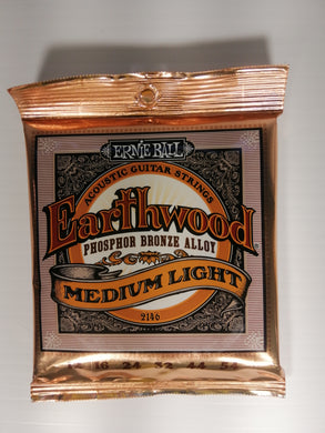 Ernie Ball Earthwood Acoustic Guitar Strings - Medium Light Phosphor Bronze