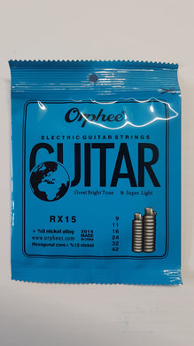 Orphee RX15 Electric Guitar Strings - 9-42