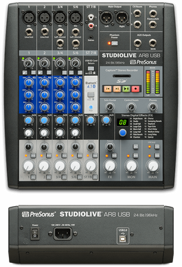 StudioLive AR8 USB Audio Mixer and Recorder PreSonus