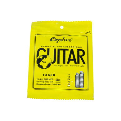Acoustic steel strings set Orphee-TX630 series 11 gauge steel strings