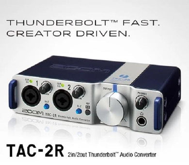 Zoom TAC-2R Thunderbolt Audio Converter 2 Channel Interface