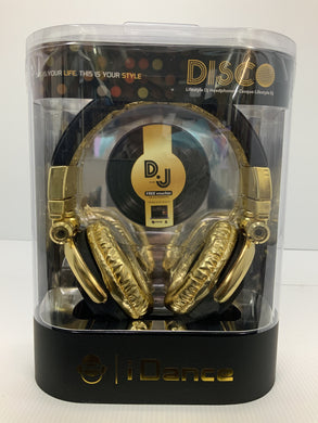 iDance Disco 100 Headphones - Black and Gold