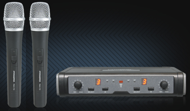 Pasgao Wireless Mic System with Two Handheld Mics