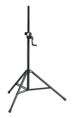 K&M - 21300-009-55 - Speaker Stand - Hand Crank And Push Button System - Intergrated M10 Thread.