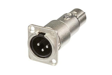 Neutrik -  NA3MDF - XLR male-female feedthrough adapter for panel mount.