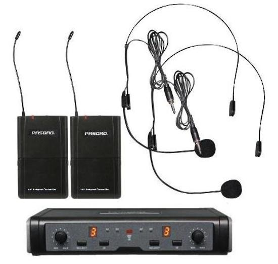 Pasgao PAW-266/PBT-172/PL90 Wireless Mic System with Two Lapel Mics