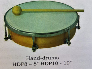 Hand Drum with Beater - 10 inch