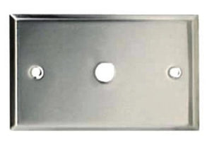 Wall Connector Plate  1 x RCA  Curved Edges  STAINLESS