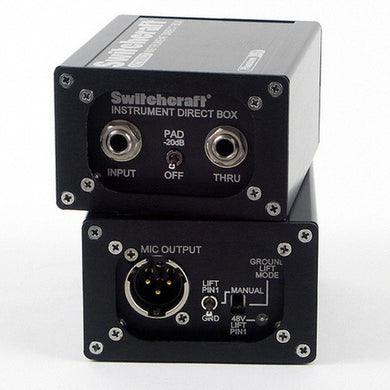 Switchcraft Instrument Direct Box with Phantom Lift