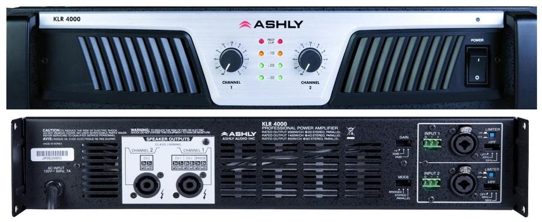 Ashly Power Amp 2 x 1400W@ 4 Ohm 2U