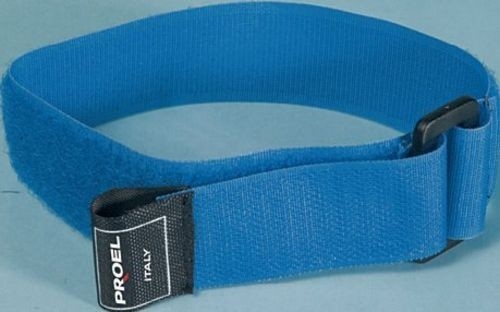 Proel  Vlcro Cable Tie  Locking Twin Tie  25 x 350mm  BLUE