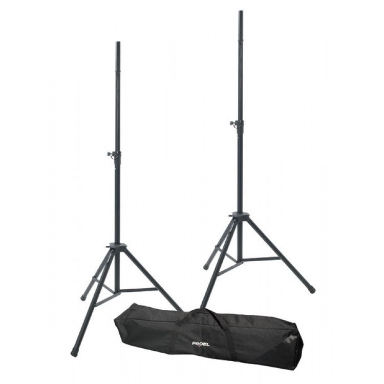Proel 2 x Speaker Stand Aluminium 35mmØ Tube with BAG BLACK