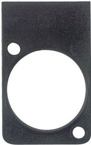 XLR Panel Mount Connector Label  Single Plate  BLANK