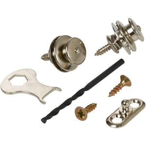 Loxx strap locks Acoustic Set E  Nickel Plated