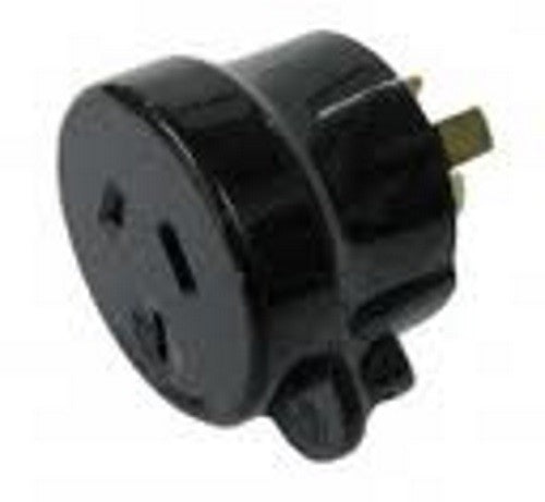PDL 10A Mains Connector Tapon Cord Plug MALE BLACK
