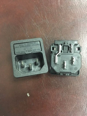 HIQ 10A Mains Connector IEC Panel Mount MALE